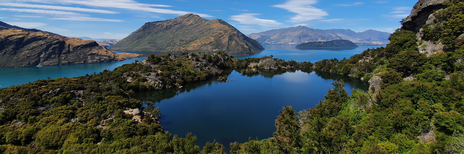 Mou Waho Island walk on Eco Wanaka Adventures lake cruise